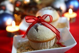 Božični orehovi mafini