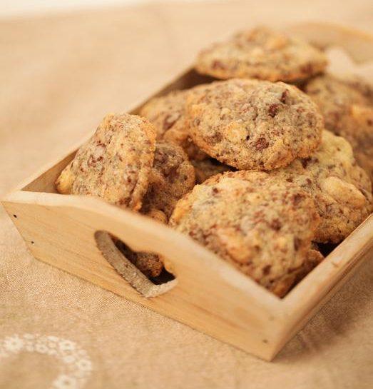 Hrustljavi čokoladni piškoti s praženimi lešniki