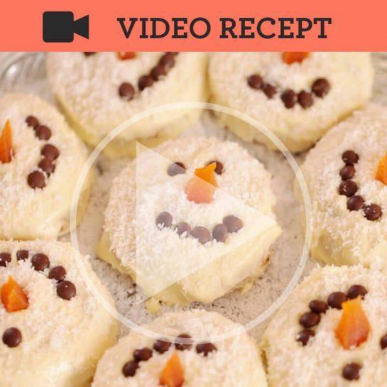 Piškoti snežaki brez peke