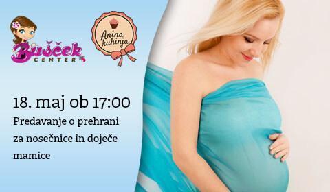 Predavanje o prehrani za nosečnice in doječe mamice