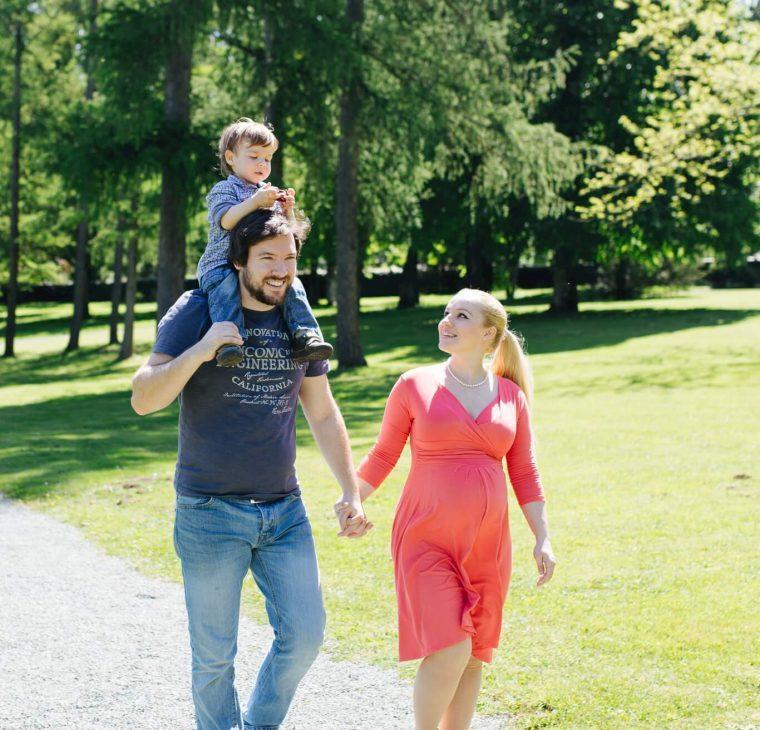 Družinsko nosečniško slikanje z Lejga ptička