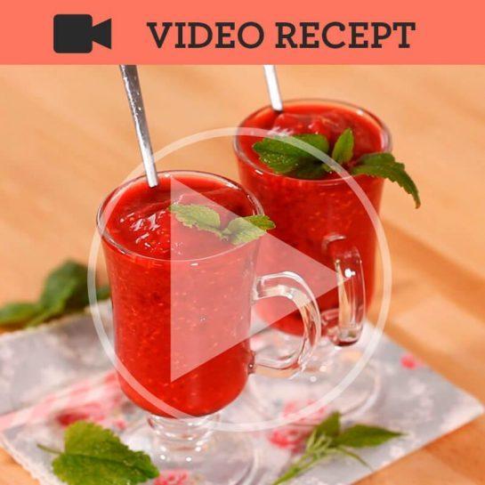 Malinov Slushie z limoninim sladkorjem