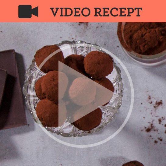 Veganski čokoladni rožičevi trufli