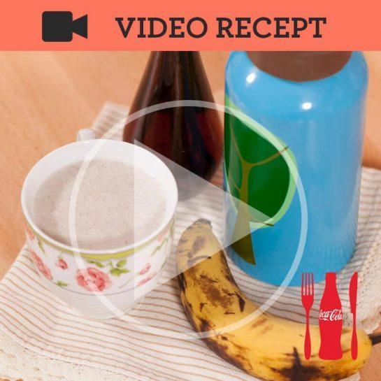 Vroče bananino vanilijevo mleko