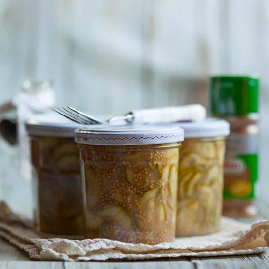Bučkin relish z gorčičnimi semeni – ozimnica