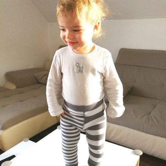 Otroške žabice/hlačne nogavice/legice brez stopal