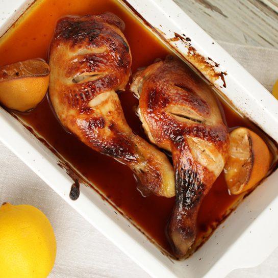 Medena limonina piščančja bedra z mletim ingverjem