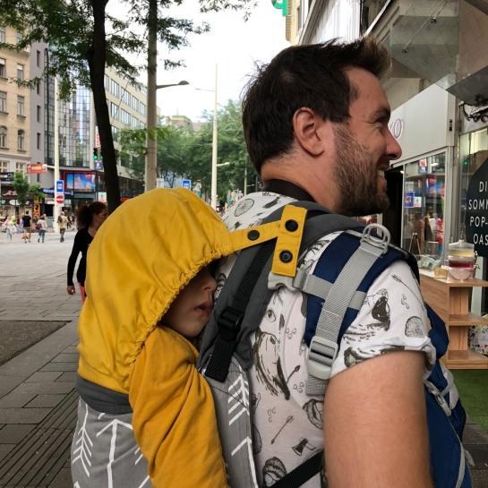 Recenzija nosilke Tula Toddler za večje malčke