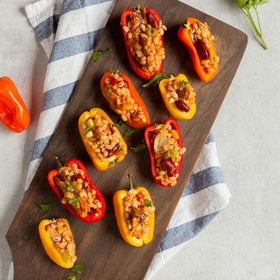 Nadevane mini paprike z ješprenčkom in skušo