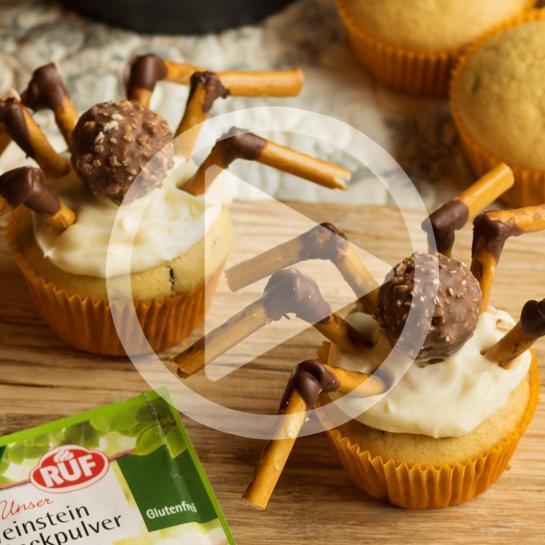 Pošastni mafini pajki za noč čarovnic