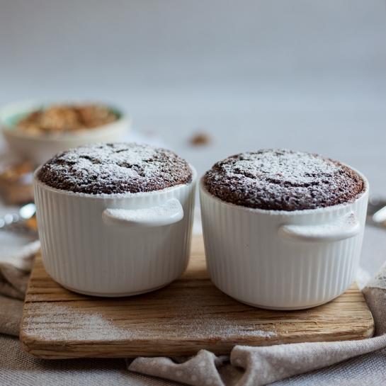 Brezglutenski čokoladni orehov sufle / souffle za diabetike