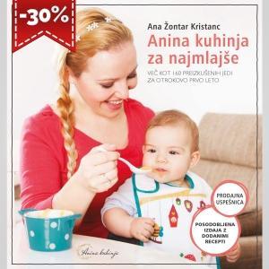 Priročnik Anina kuhinja za najmlajše – posodobljena izdaja