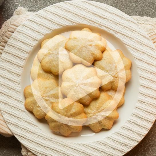 Danski masleni piškoti z jedilnimi bleščicami