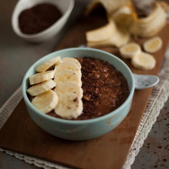 Kuhani čokoladno bananini ovseni kosmiči