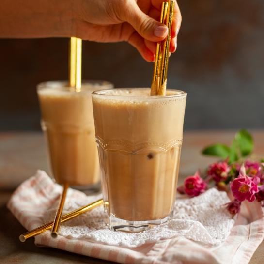 Proteinska ledena kava z vanilijo
