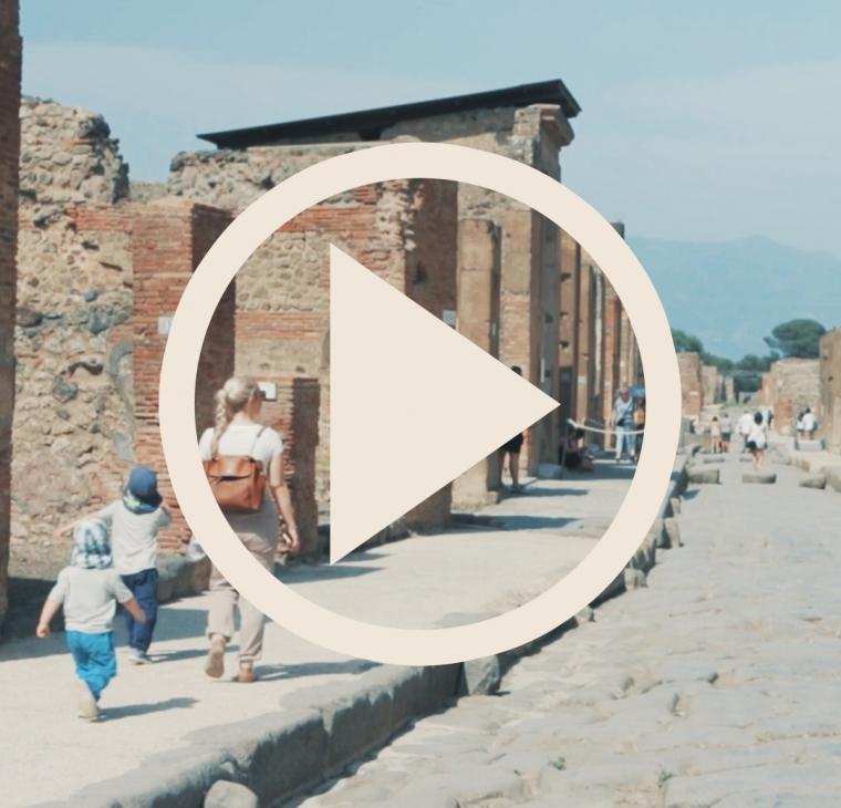 VLOG: Družinski potep z avtodomom po Italiji – Pompeji