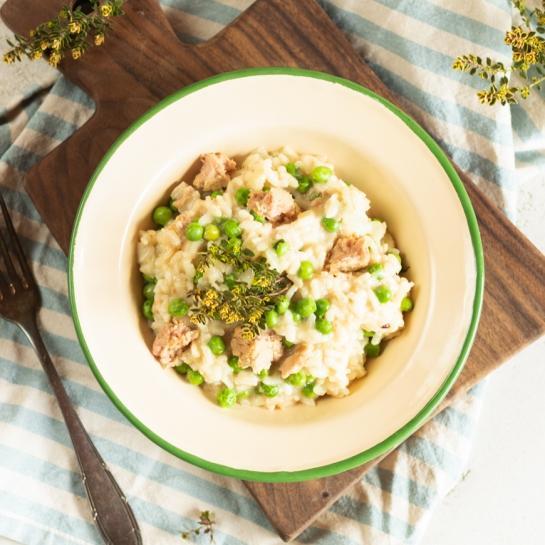 Preprosta rižota s tunino in grahom