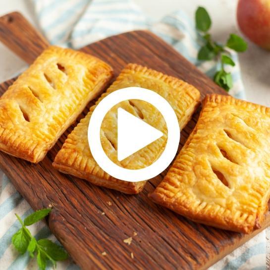 Jabolčni žepki iz listnatega testa