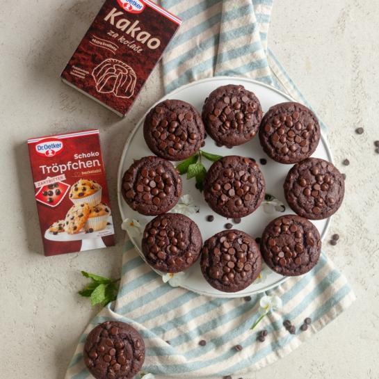 Trojno čokoladni mafini