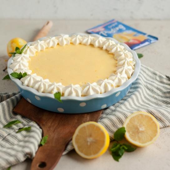 Jabolčno vanilijeva puding pita