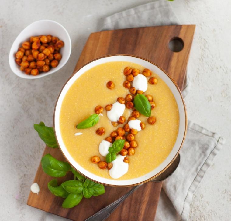 Polentina juha s čičeriko
