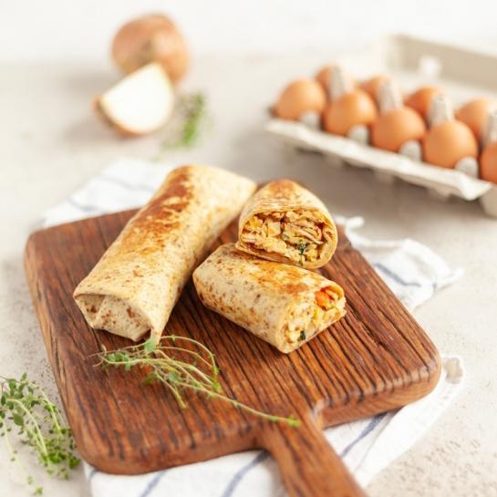 Zajtrk burrito z jajci