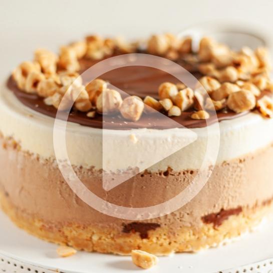 Preprosta Nutellina sladoledna torta