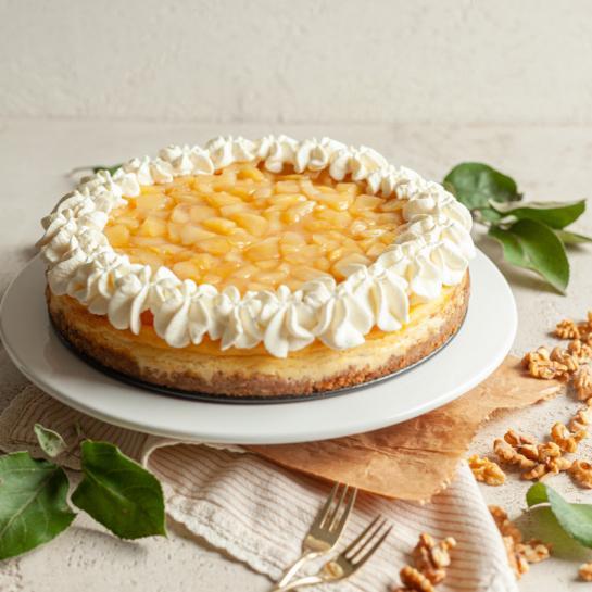 Jabolčna orehova cheesecake pita