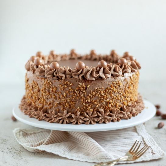 Preprosta lešnikovo čokoladna torta
